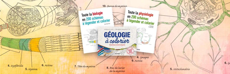 Biologie, physiologie, Géologie, 200 schémas à légender et colorier  pour un apprentissage actif