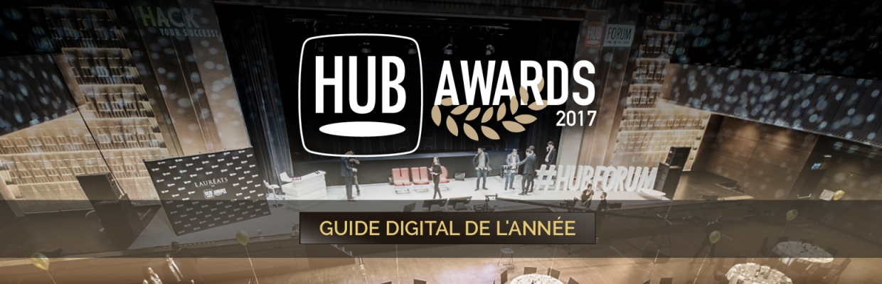 Olivier Laborde Trophée HUB Awards 2017 Guide digital de l'année