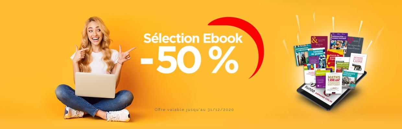Offre spécial étudiants enseignement supérieur - Sélection Ebook à -50 %