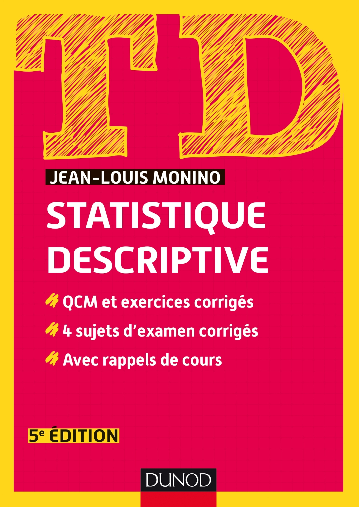 TD de statistique descriptive - QCM et exercices corrigés, 4 sujets d'examen corrigés, avec ...