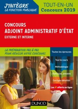 Concours Adjoint administratif d'Etat - Externe et interne