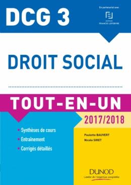 DCG 3 - Droit social 2017/2018