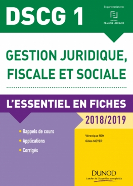 DSCG 1 - Gestion juridique, fiscale et sociale 2018/2019