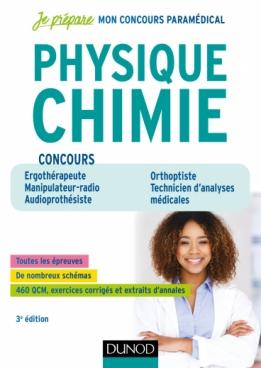 Physique Chimie - Concours Ergothérapeute, Manipulateur-radio, Audioprothésiste