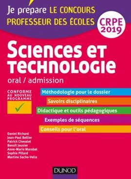 Sciences et technologie - Oral, admission - CRPE 2019