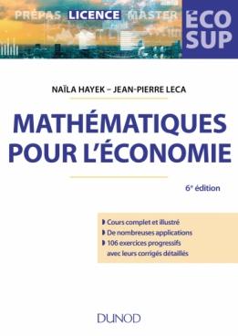 Mathématiques pour l'économie