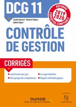 DCG 11 - Contrôle de gestion - Corrigés