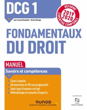 DCG 1 Fondamentaux du droit - Manuel - Réforme 2019/2020