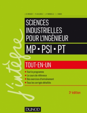 Sciences industrielles pour l'ingénieur MP, PSI, PT