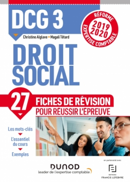 DCG 3 -Droit social - Fiches de révision