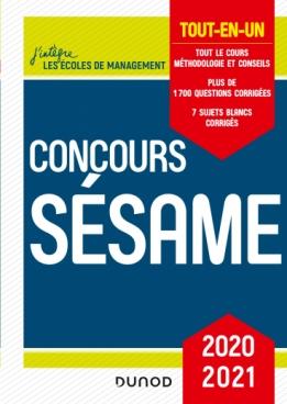 Concours Sésame 2020-2021