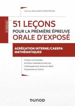 51 leçons pour la première épreuve orale d'exposé