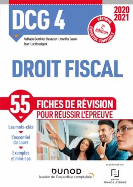 DCG 4 Droit fiscal - Fiches de révision - 2020-2021