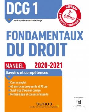DCG 1 Fondamentaux du droit - Manuel - 2020/2021