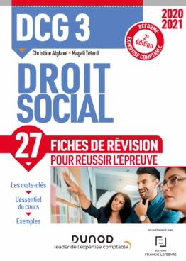 DCG 3 Droit social - Fiches de révision