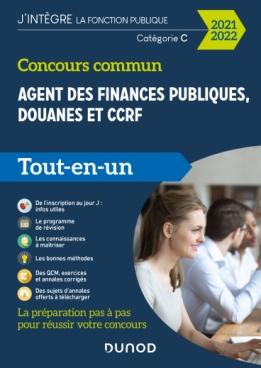 Concours commun Agent des finances publiques, douanes et CCRF - 2021-2022 - Tout-en-un