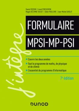 Formulaire MPSI-MP-PSI