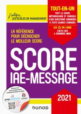 Score IAE-Message - 2021