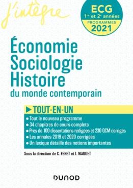 ECG 1 ET 2  - Economie, Sociologie, Histoire du monde contemporain
