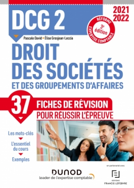 DCG 2 Droit des sociétés et des groupements d'affaires - Fiches de révision 2021/2022