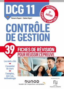 DCG 11 Contrôle de gestion - Fiches de révision