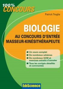 Biologie au concours d'entrée Masseur-Kinésithérapeute