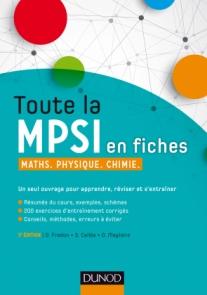 Toute la MPSI en fiches