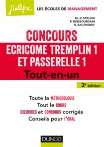 Concours Écricome Tremplin 1 et Passerelle 1