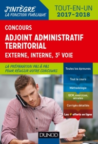 Concours Adjoint administratif territorial 2017/2018