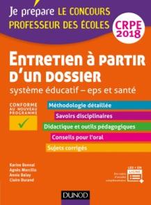 Entretien à partir d'un dossier - Système éducatif - EPS et Santé - CRPE 2018