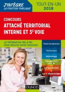 Concours Attaché territorial Interne et 3e voie - 2018