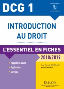 DCG 1 - Introduction au droit - 2018/2019