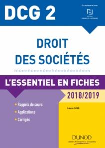 DCG 2 - Droit des sociétés - 2018/2019