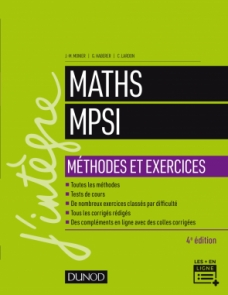 Maths MPSI - Méthodes et Exercices