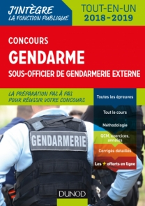 Concours Gendarme sous-officier de gendarmerie externe