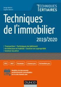 Techniques de l'immobilier 2019/2020