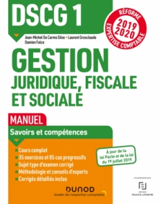 DSCG1 Gestion juridique, fiscale et sociale - Manuel
