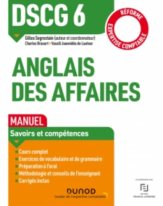 DSCG 6 - Anglais des affaires - Manuel - Réforme  2019/2020