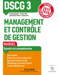 DSCG 3 Management et contrôle de gestion - Manuel