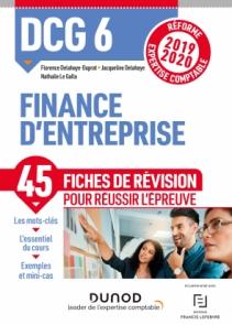 DCG 6 Finance d'entreprise - Fiches de révision