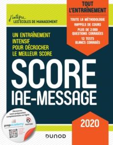 Score IAE-Message - 2020