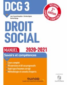 DCG 3 Droit social - Manuel - 2020/2021
