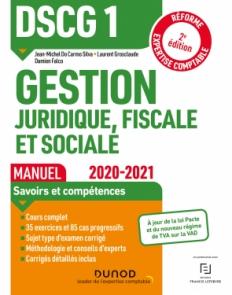 DSCG 1 Gestion juridique, fiscale et sociale - Manuel 2020/2021
