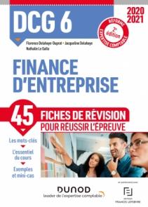 DCG 6 - Finance d'entreprise - Fiches de révision 2020/2021