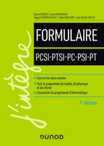 Formulaire PCSI-PTSI-PC-PSI-PT