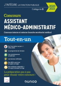 Concours Assistant médico-administratif 2020-2021 Tout-en-un Catégorie B