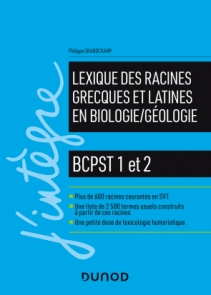 Lexique des racines grecques et latines en biologie/géologie