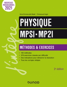 Physique Méthodes et Exercices MPSI-MP2I