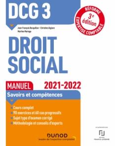 DCG 3 Droit social - Manuel - 2021/2022