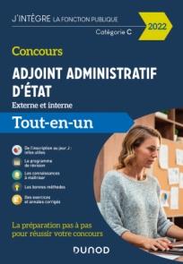 Concours Adjoint administratif d'Etat - 2022 - Externe et interne